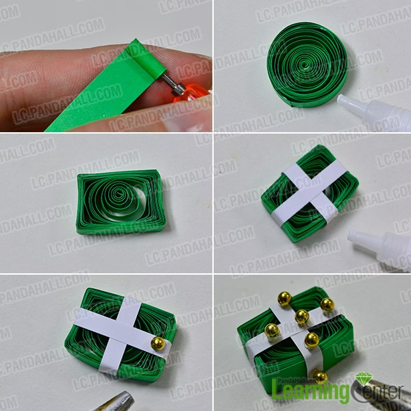 Instructions On How To Make Quilling Gift Box Earrings Brands