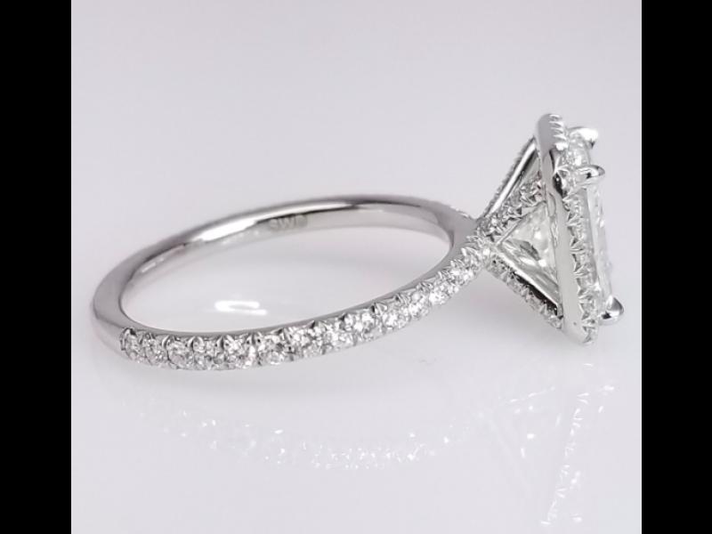 Square Enement Ring | Platinum Square Diamond Engagement Norma Ring Size 6 5 Brands