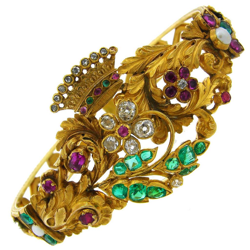 Ancient Victorian Bangle Bracelet