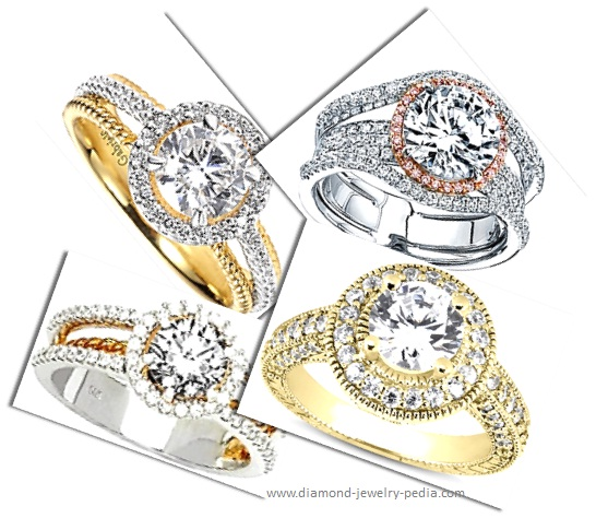 halo-engagement-rings-different-metal-tones