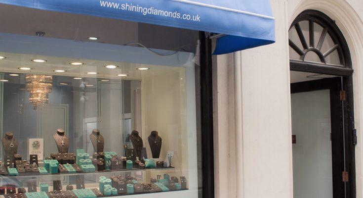 shop front of shining diamonds